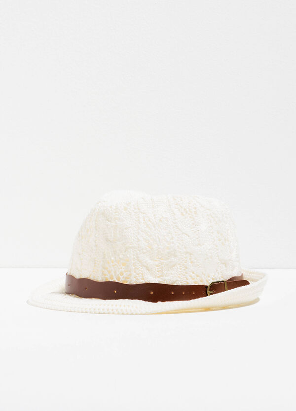 Lace hat with wide brim   OVS