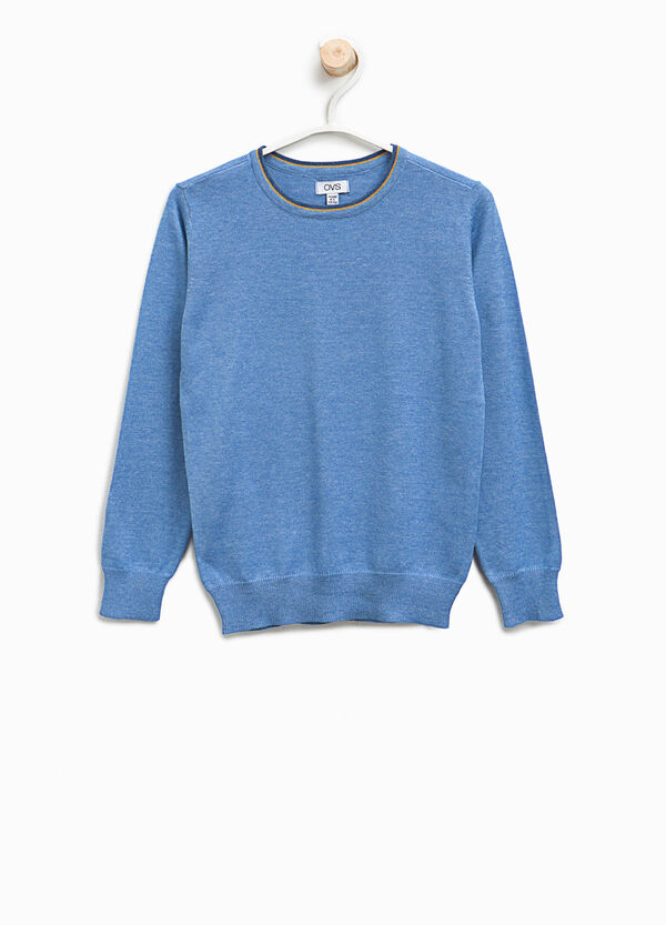 Solid colour cotton blend pullover | OVS