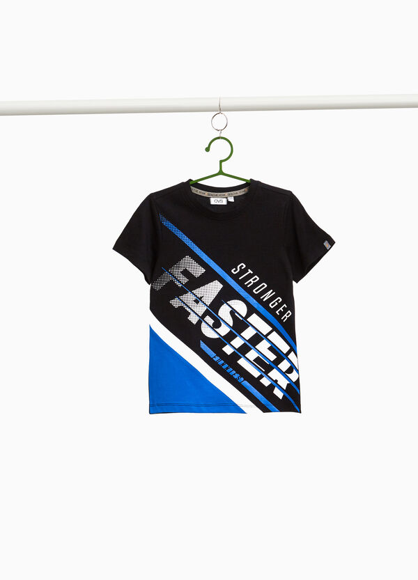 T-shirt stampa lettering rigata