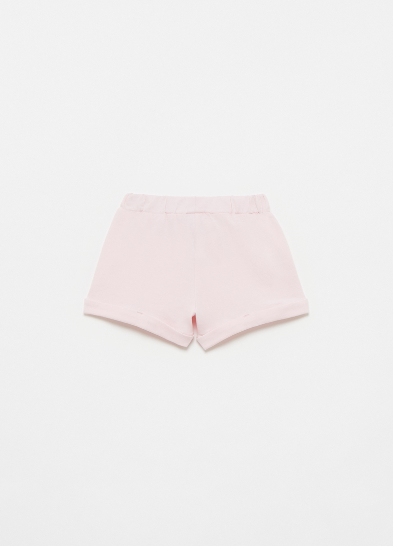 Shorts with floral broderie anglaise insert image number null