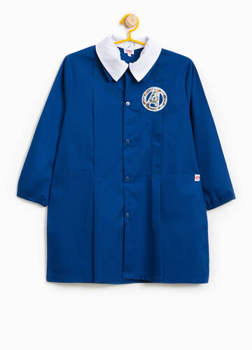Cotton blend smock with The Avengers patches