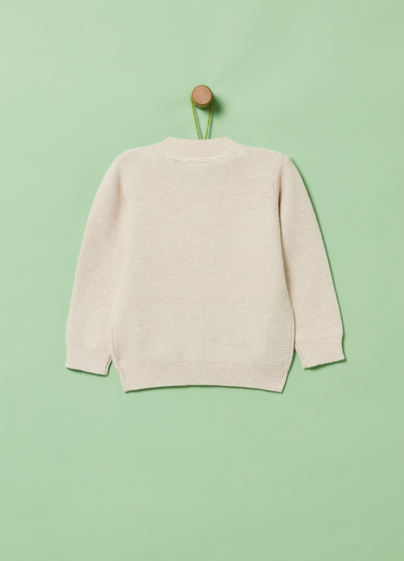 100% organic cotton cardigan with zip image number null
