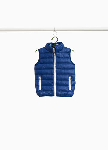 Padded waistcoat with high neck and zip
