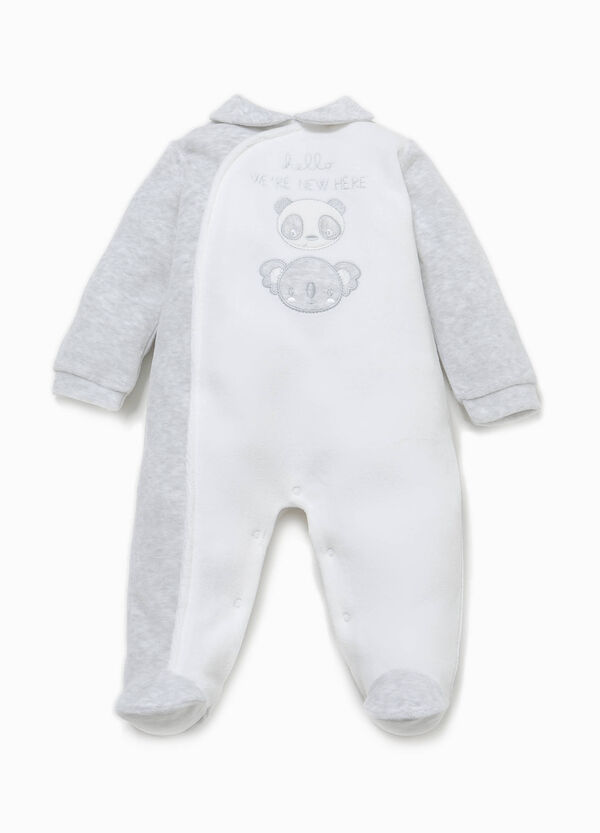 100% cotton onesie with patch and embroidery | OVS