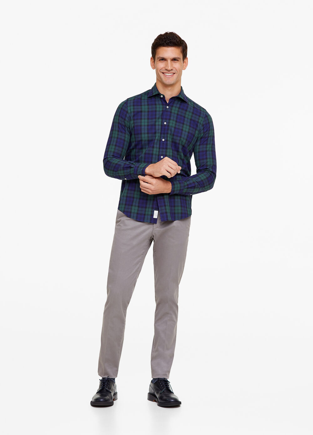 Check cotton Rumford shirt