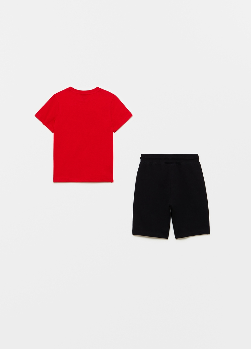 Jogging set with Star Wars T-shirt and Bermuda shorts image number null