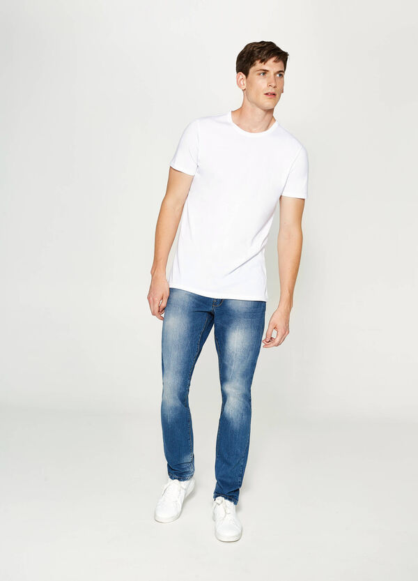 Jeans straight fit con scoloriture | OVS