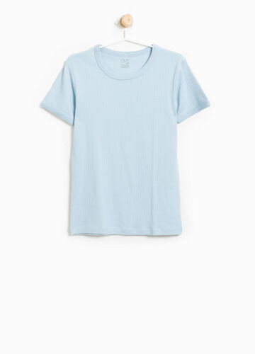 T-shirt intima cotone a costine
