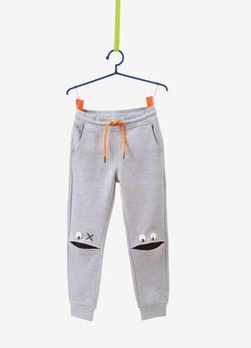 Mélange joggers with eyes print