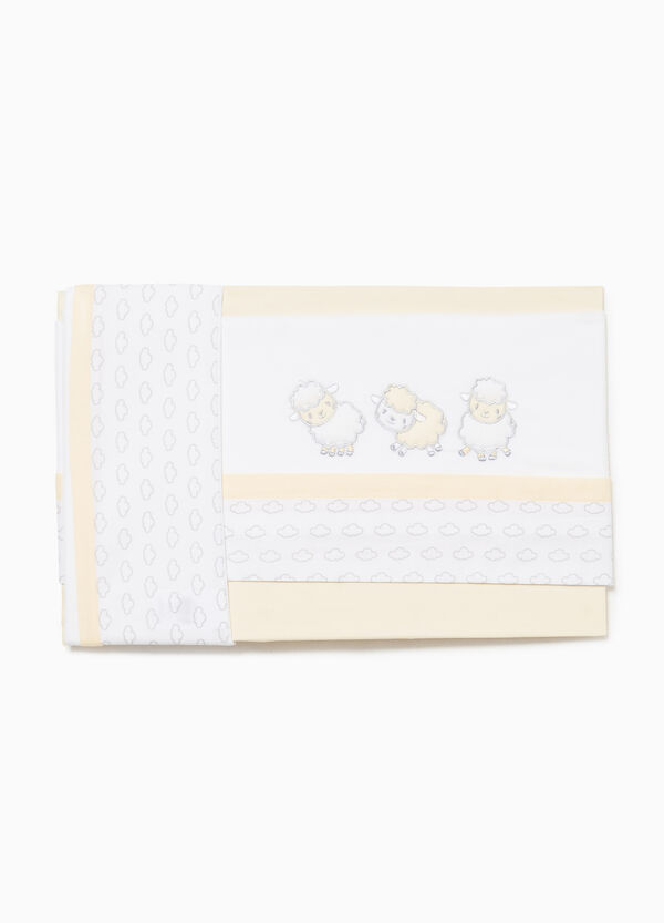 Sheep and clouds crib set