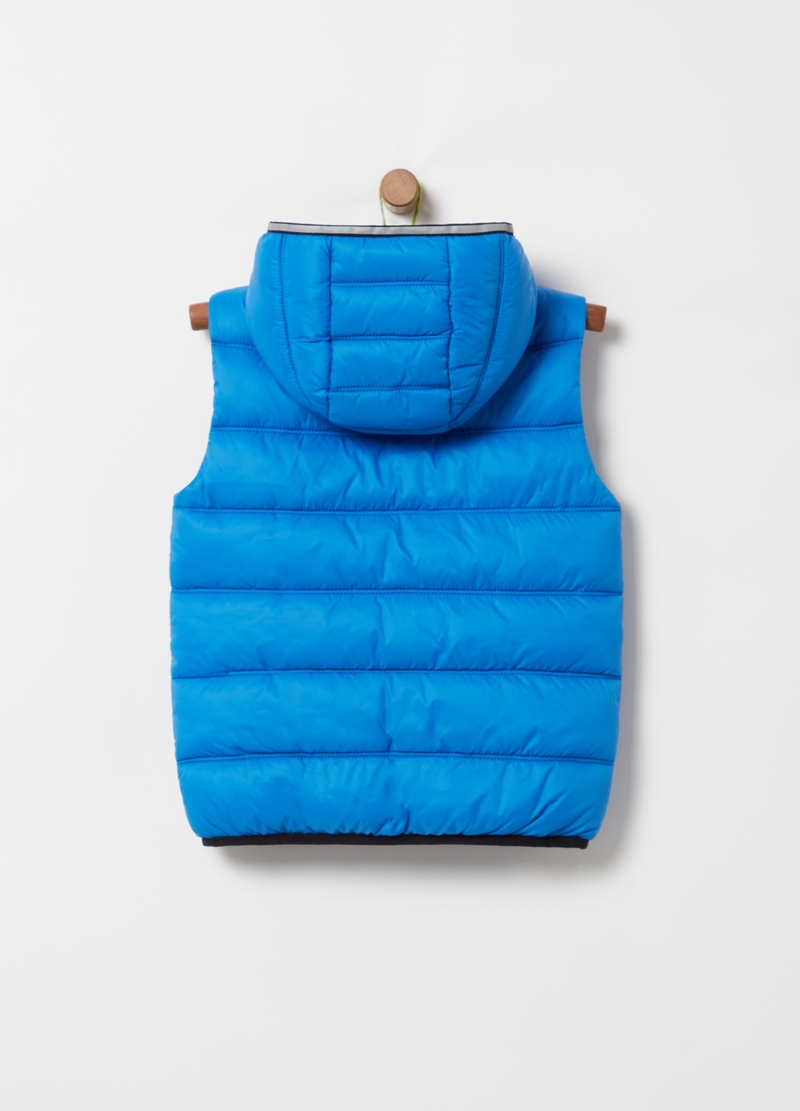 Padded and quilted gilet with pockets image number null
