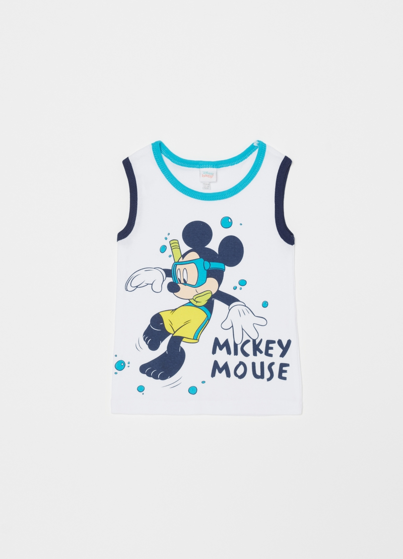 Disney Mickey Mouse racerback vest and boxer shorts set image number null