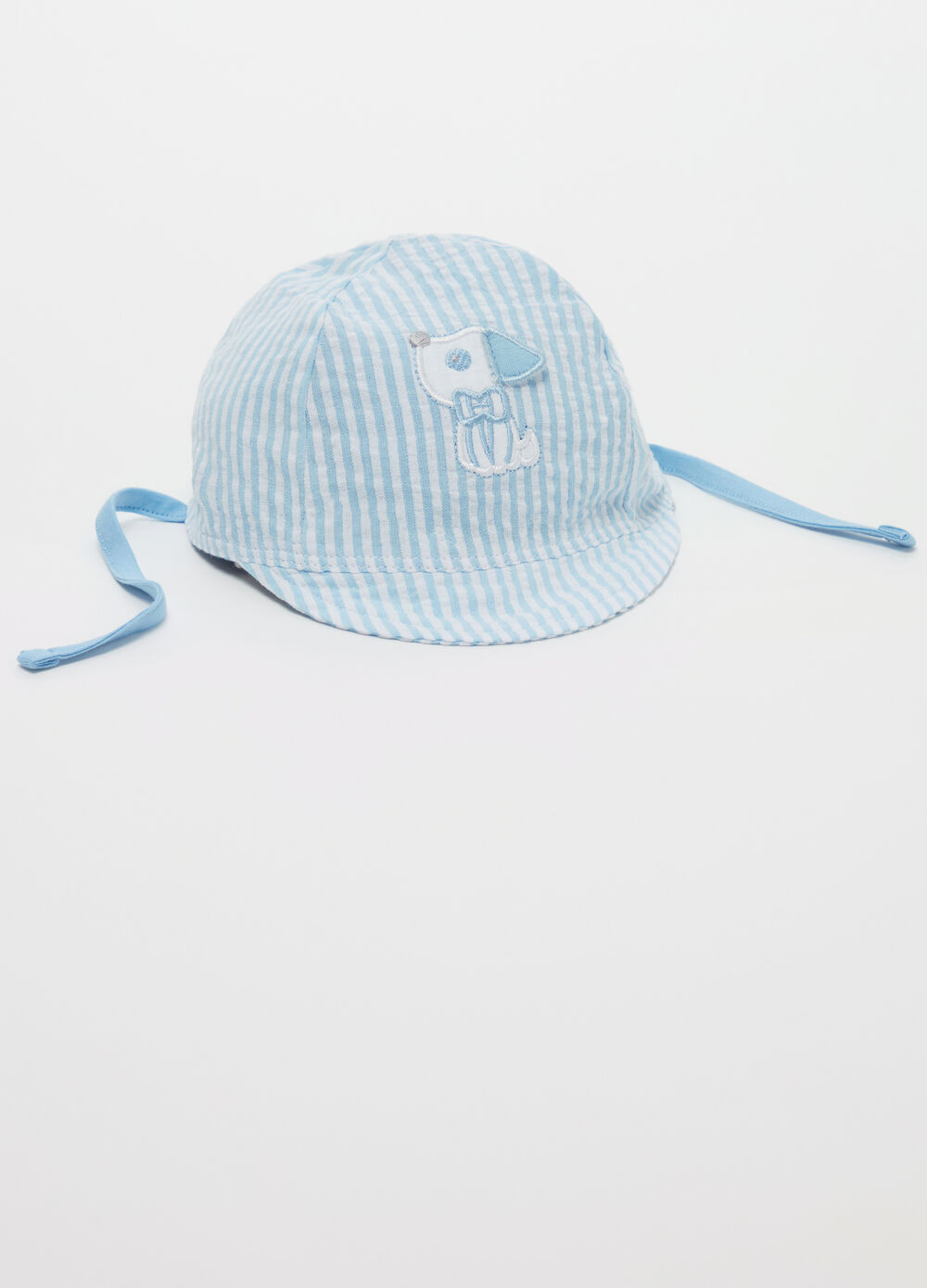 Striped patterned cotton hat