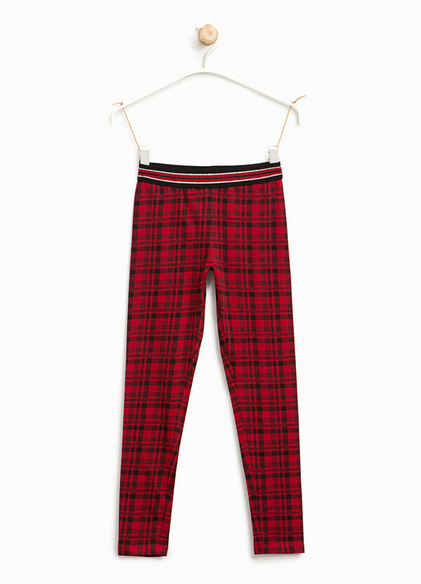 Tartan cotton leggings | OVS