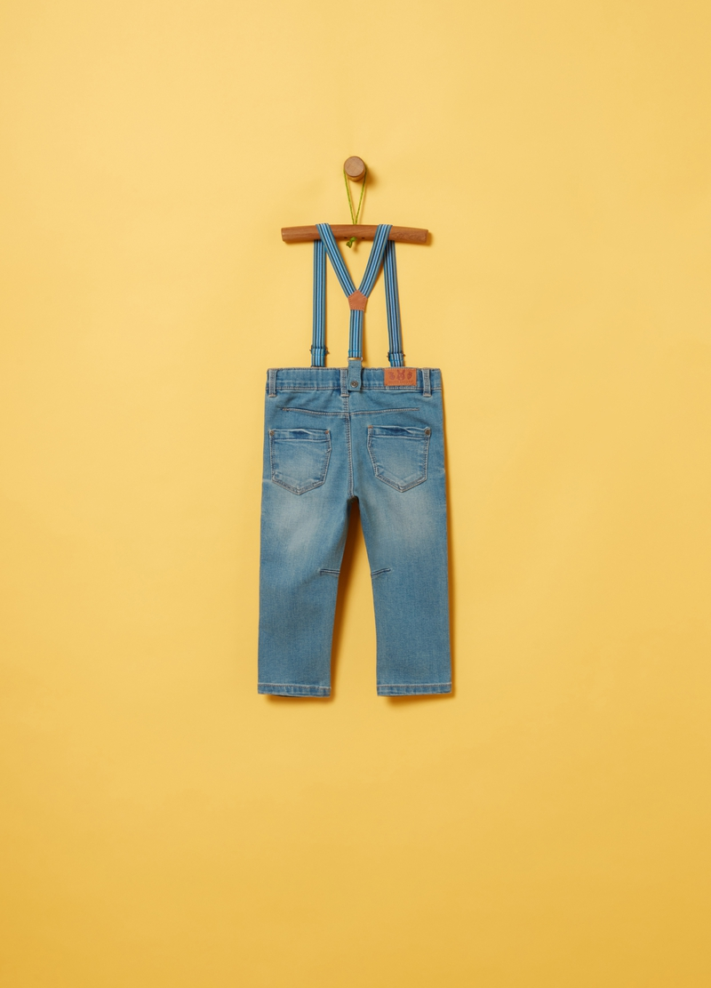 Regular-fit jeans with braces image number null