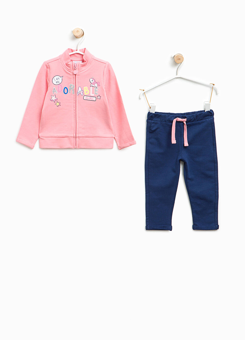 Stretch cotton printed tracksuit