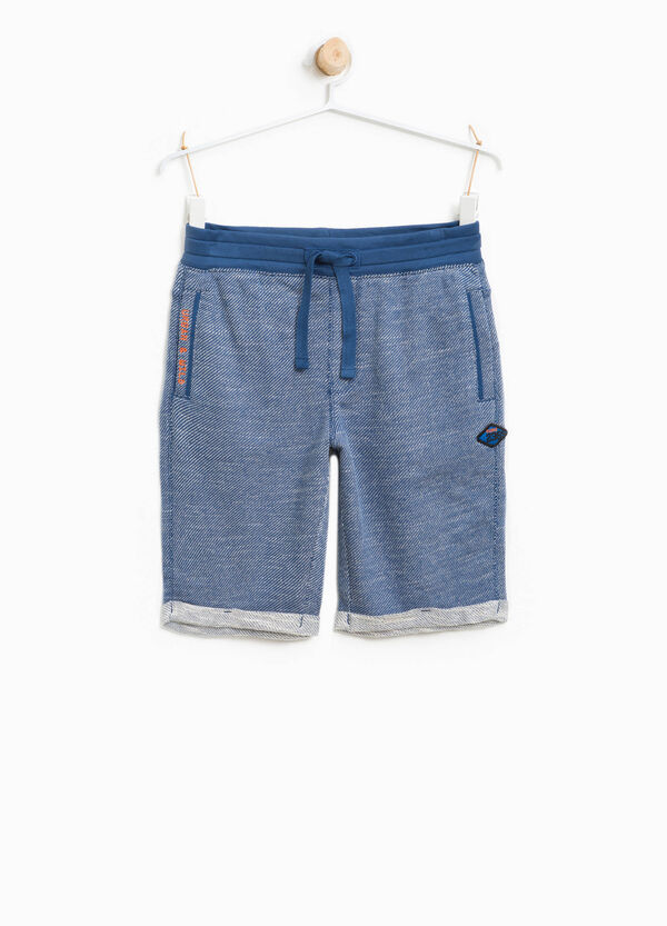 100% cotton Bermuda shorts with lettering embroidery | OVS