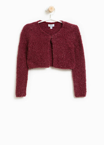 Knitted glitter cardigan in cotton blend