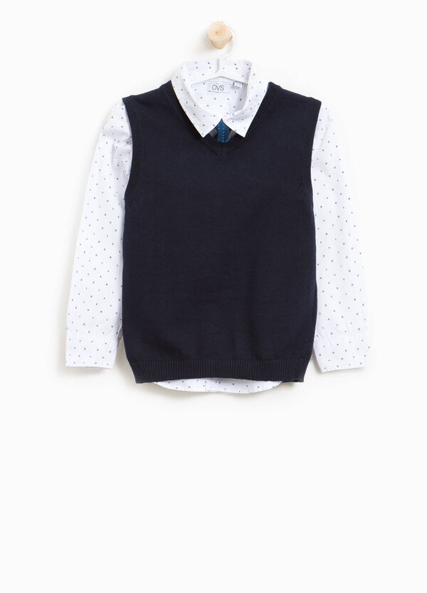 Shirt and waistcoat set with tie | OVS