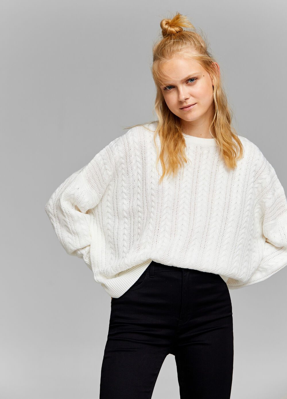 Pullover over fit tricot