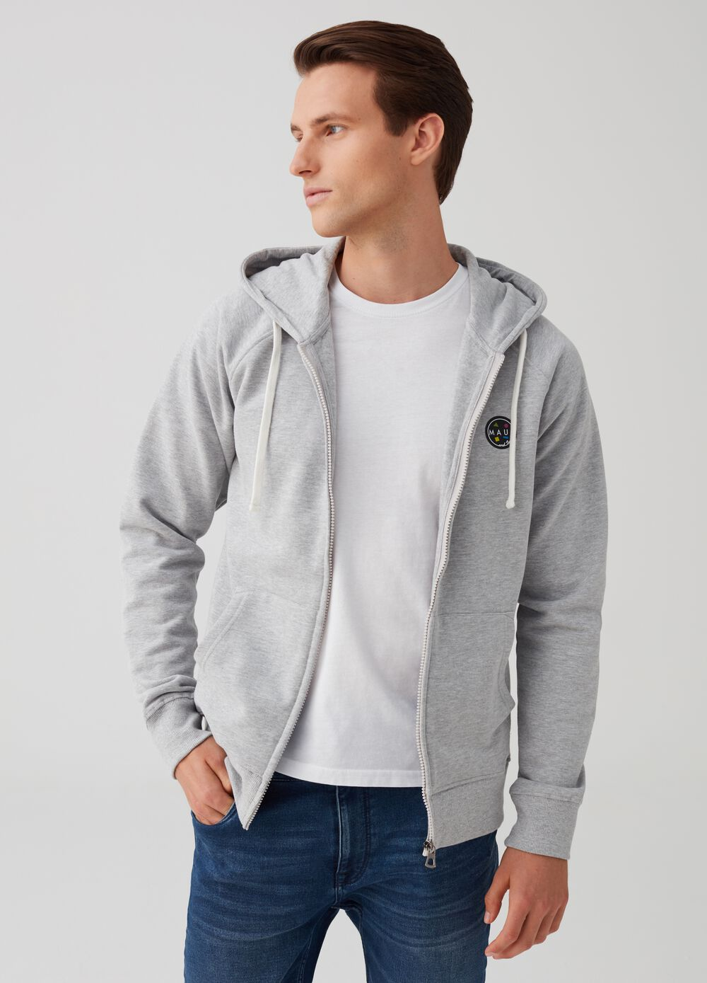 Sweatshirt with hood and zip by Maui and Sons