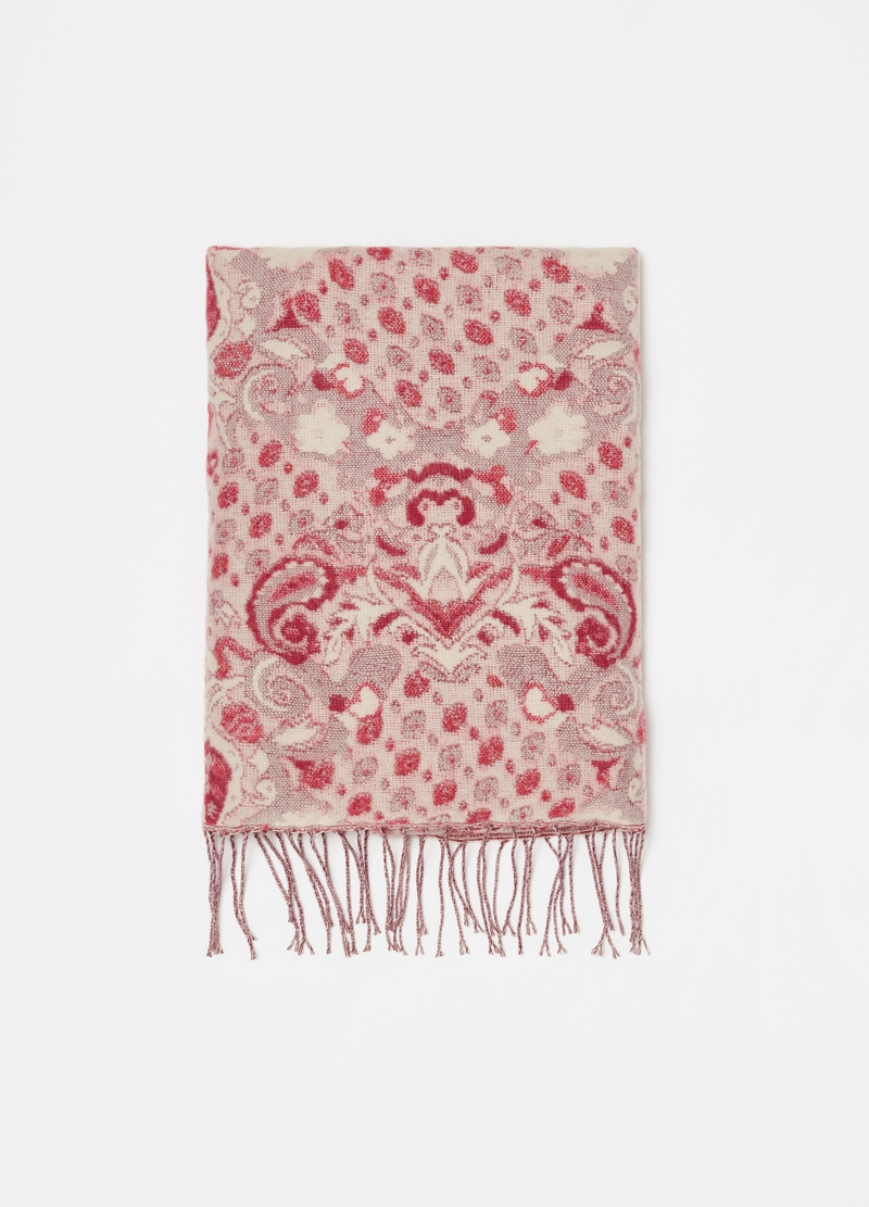 Damask scarf with fringing image number null