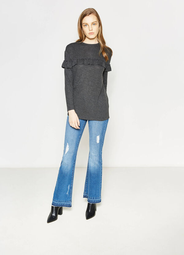 Long-sleeved T-shirt with flounce   OVS