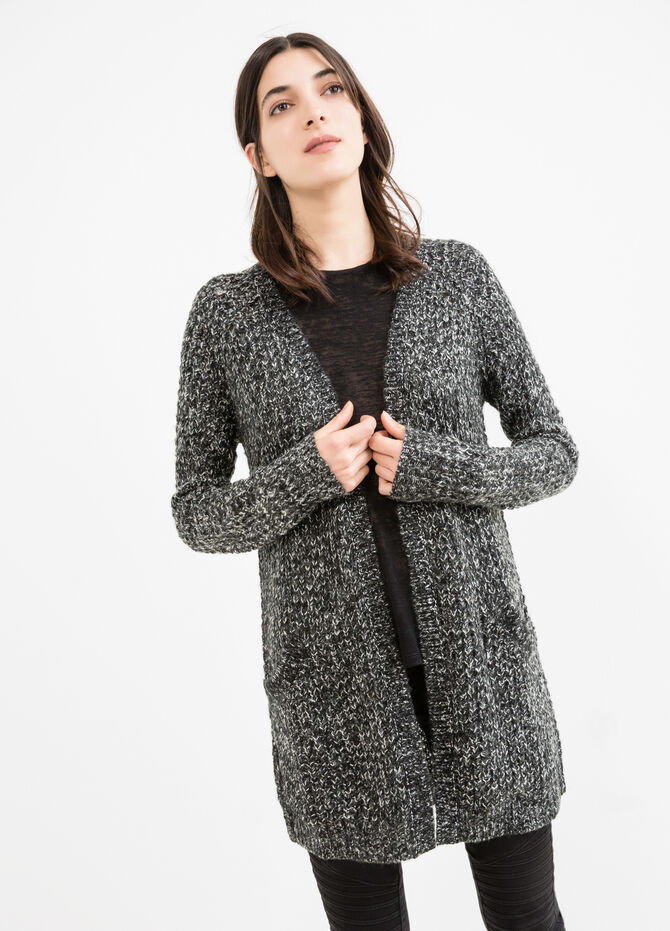 Long cardigan without buttons