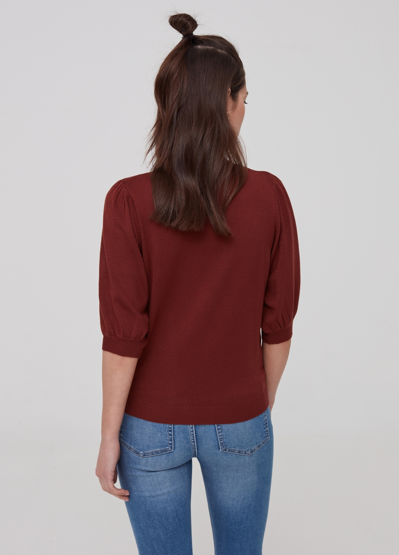 Sweatshirt with puff sleeves image number null