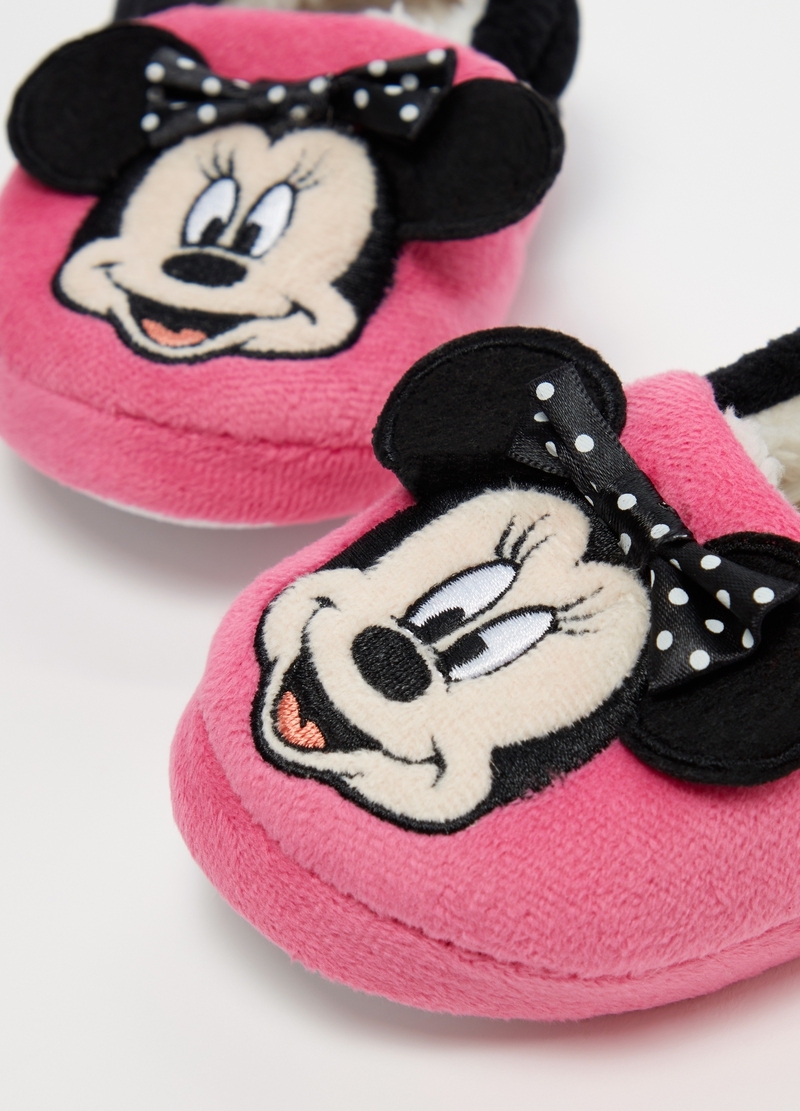 Pantofole bicolore ricamo Disney Minnie image number null