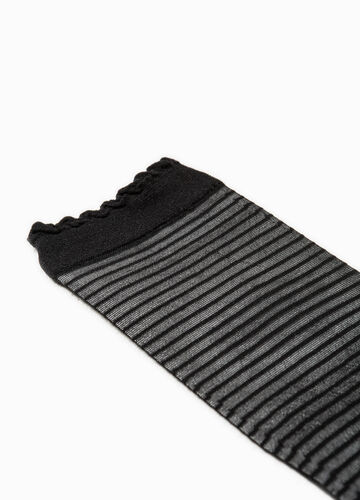 Striped stretch pop socks