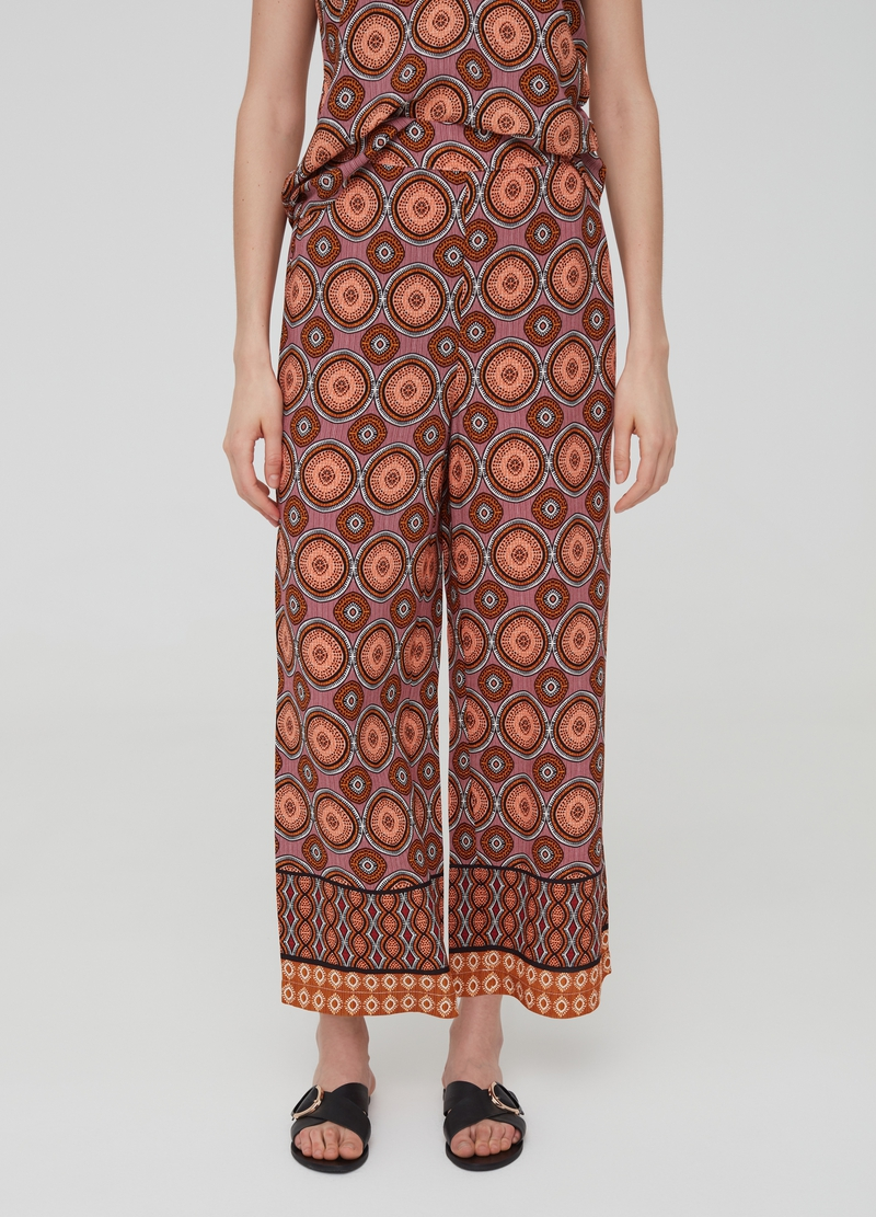 100% viscose culotte trousers image number null