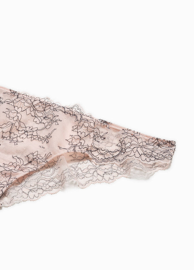 Brazilian cut briefs with embroidery