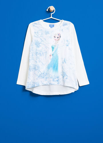 Stretch T-shirt with maxi Frozen print