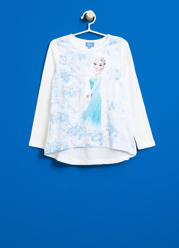 Stretch T-shirt with maxi Frozen print | OVS