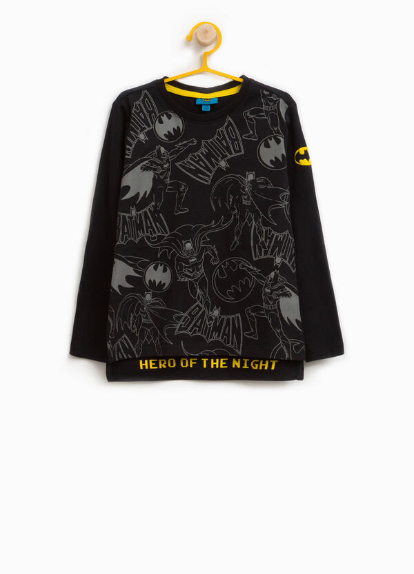 T-shirt in puro cotone stampa Batman
