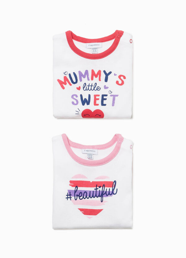 Set due body cotone stampa lettering