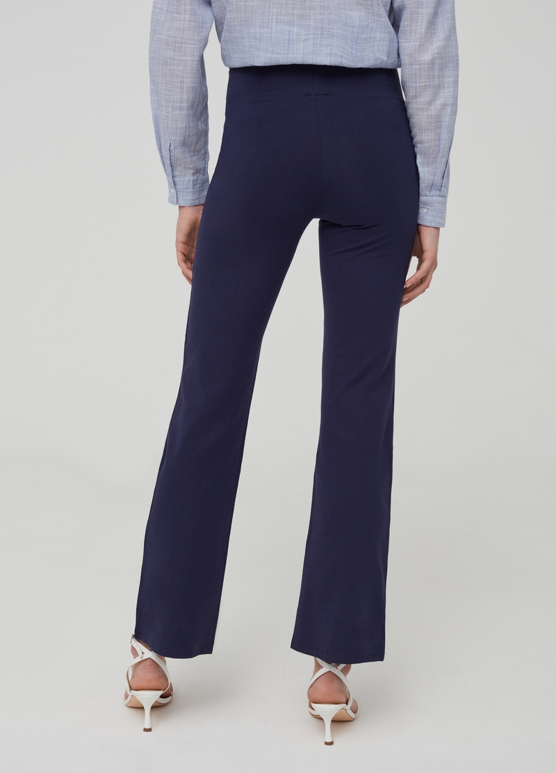 Stretch organic cotton trousers image number null