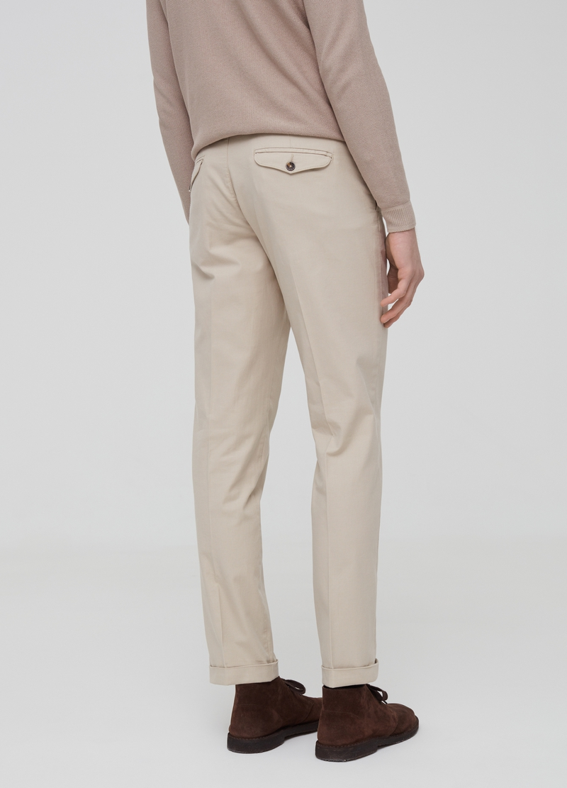 Solid colour slim-fit chino trousers image number null