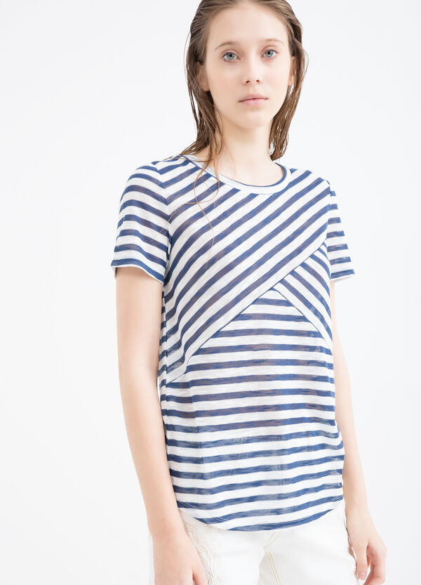 T-shirt stretch fantasia a righe | OVS