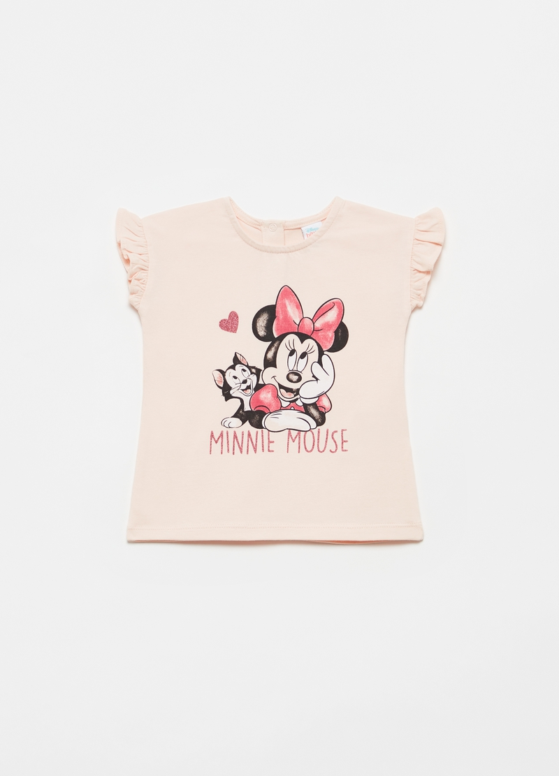 T-shirt con rouches stampa Minnie image number null