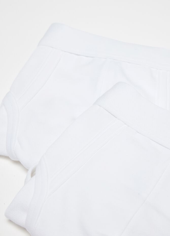 Two-pack briefs with elastic waist band