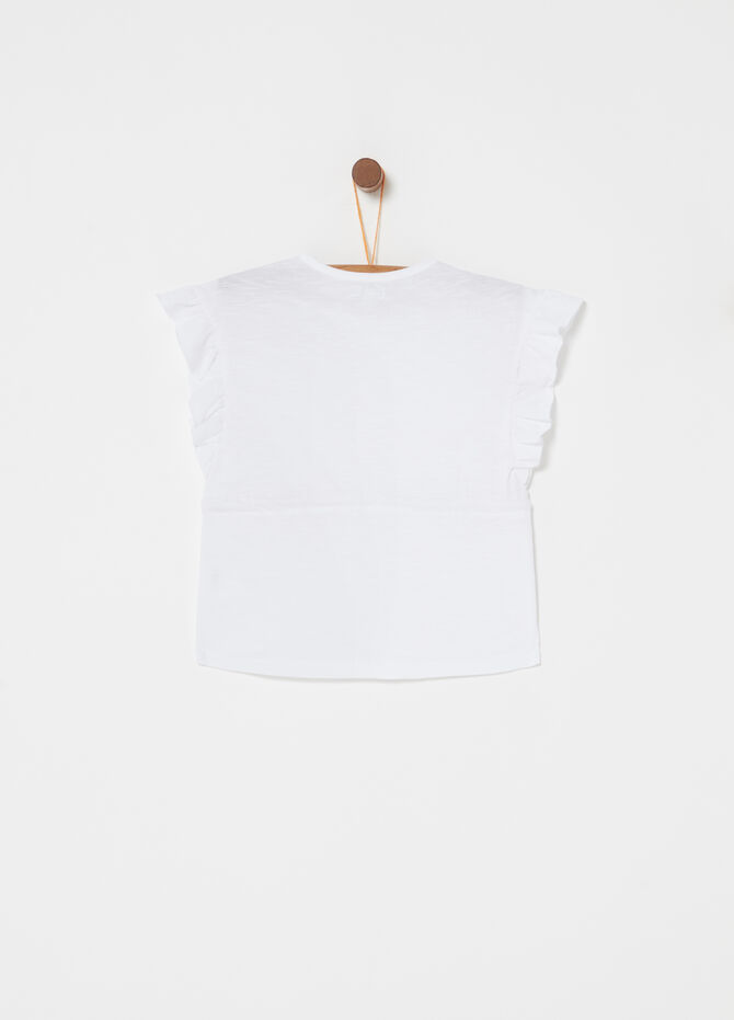 T-shirt jersey fiammato coulisse e ricami
