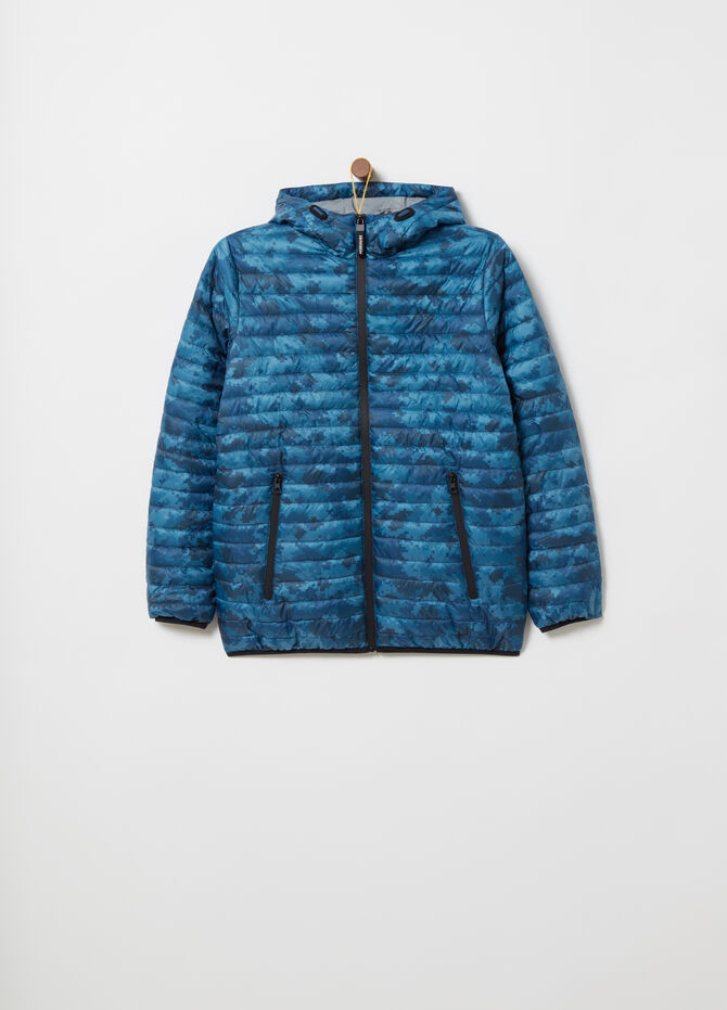 Ultralight nylon jacket with all-over print
