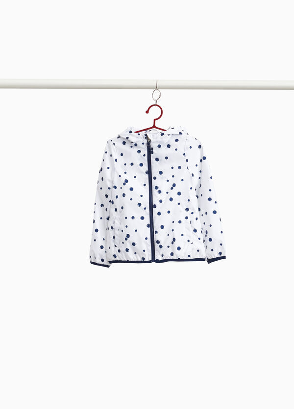 Patterned jacket with hood