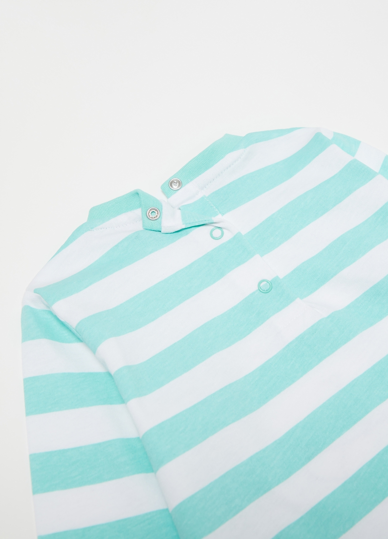 Pyjamas with print and stripes image number null
