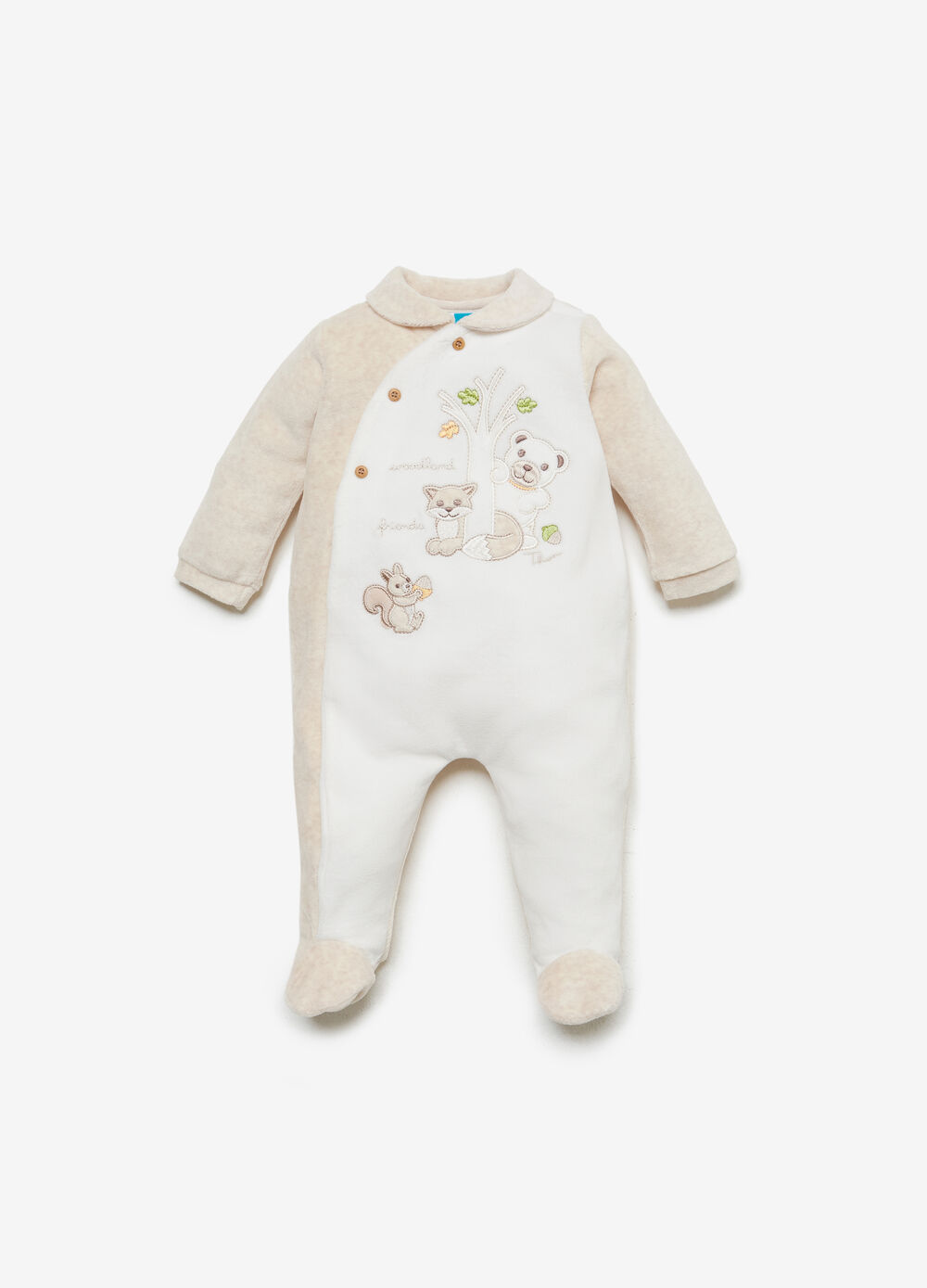 THUN two-tone cotton blend romper suit