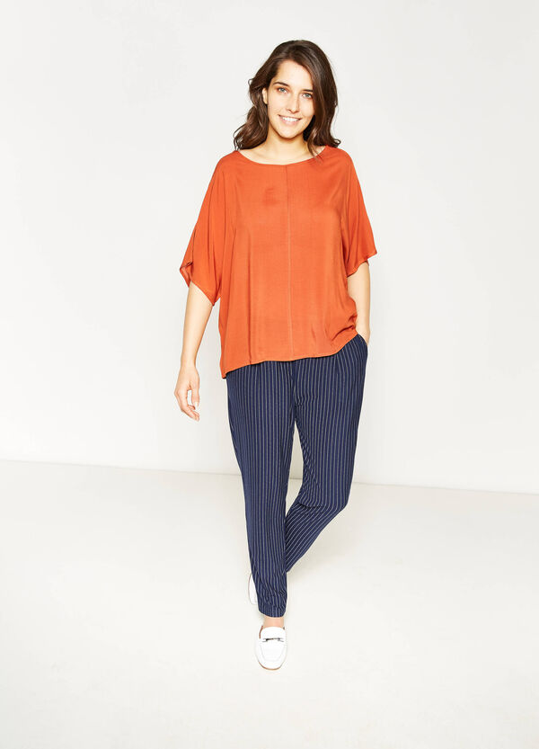 Curvy blouse with elbow-length sleeves | OVS