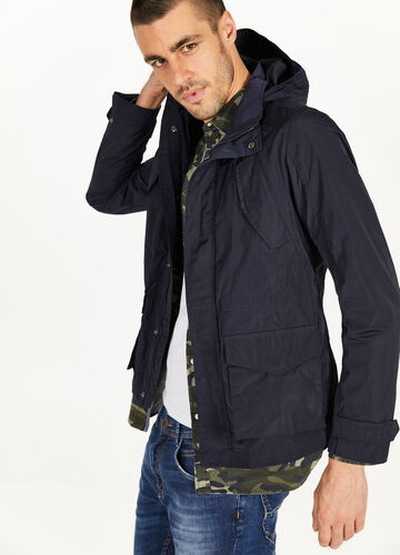 Jacket with pocket and hood