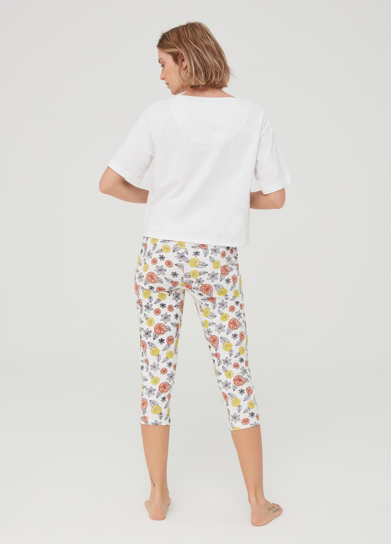 Patterned pyjamas in 100% cotton image number null